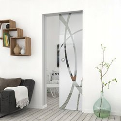 Drzwi Szklane Przesuwne 105 GEO14 Kaseta