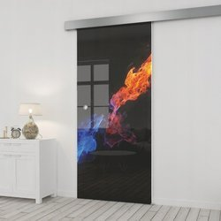 Drzwi Szklane Przesuwne 65 GR-H31 SILVER