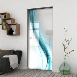 Drzwi Szklane Przesuwne 75 GR-H30 KASETA