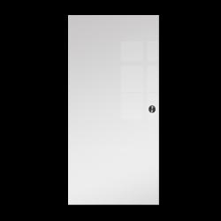 Drzwi Szklane Przesuwne 750X2095 8MM FLOAT ESG/VSG BIAŁE + KASETA