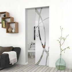 Drzwi Szklane Przesuwne 85 GEO14 KASETA