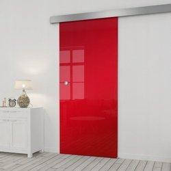 Drzwi Szklane Przesuwne 850X2095 8MM ESG/VSG Lustro Czerwone