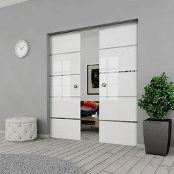 Drzwi Szklane Przesuwne PODWÓJNE 1900X2095 8MM ESG GEO11 + KASETA