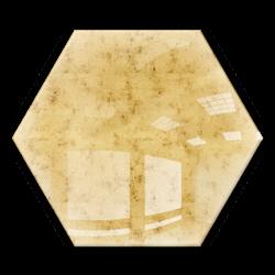 Kafelek lustrzany 183x160 hexagon 4mm Szlif Poler Lustro Antyczne AG1 GOLD
