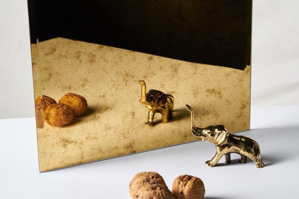 Kafelek lustrzany 30X30 4MM Faza Lustro Antyczne AG1 GOLD