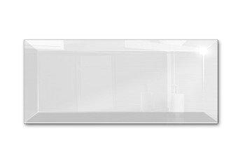 Płytki Kafelki Lustrzane 25x75 4MM Faza Białe