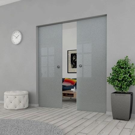 Drzwi Szklane Przesuwne 200(2X100) MILENIUM KASETA