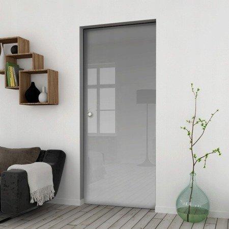 Drzwi Szklane Przesuwne 65 GEO SATYNA KASETA