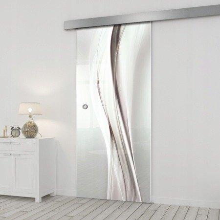 Drzwi Szklane Przesuwne 65 GR-H018 SILVER