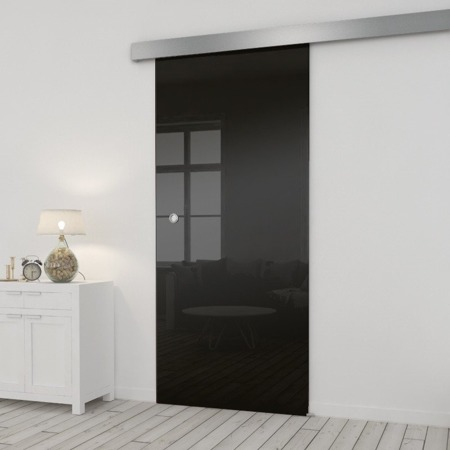 Drzwi Szklane Przesuwne 85 ESG/VSG CZARNE SILVER