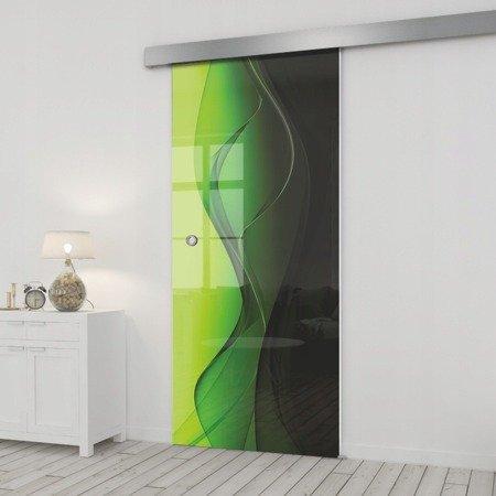 Drzwi Szklane Przesuwne 85 GR-H016 SILVER