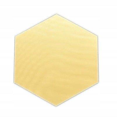 Kafelek lustrzany 183x160 Hexagon Szlif Poler Złoty