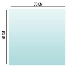 Podstawa Szklana Pod Piec Kominek Szkło 6mm 70x70